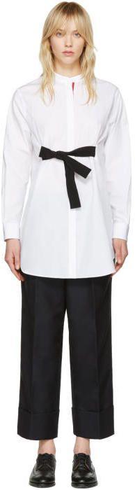 Moncler Gamme Rouge White Poplin Shirt