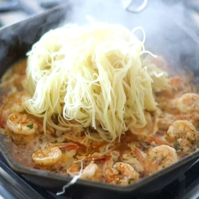 Cajun Lemon Shrimp Scampi Ingredients: 1-2 pounds - shrimp 1/2 cup - white wine 6 ounces - butter 1 - lemon / juice 1-9 tablespoon - garlic / minced 1 teaspoon - flavorgod Himalayan Salt&Pepper 1 tablespoon - Flavorgod Lemon&Garlic 1 tablespoon- Flavorgod Cajun 1 pack - noodles / I used angel hair - Directions: preheat oven to 400* Fahrenheit Mix all ingredients (except for shrimp) above in jar or bowl. Place shrim...