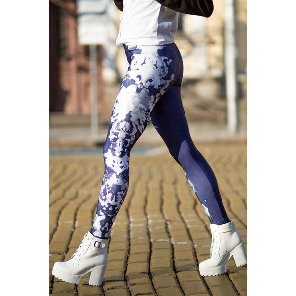 Rorschach's Mask Leggings Wearable Art Printed Leggings Art Lover Gift... ($49) ❤ liked on Polyvore featuring grey, leggings and women's clothing