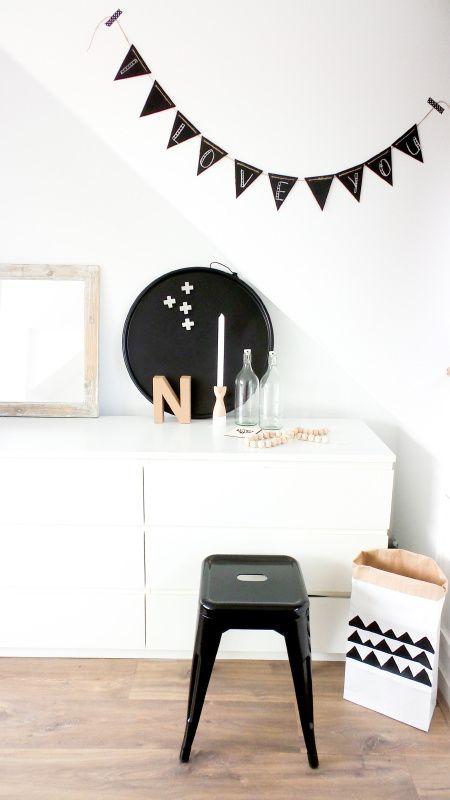 Mini krijtbordslinger, lengte zelf samen te stellen - Room 26