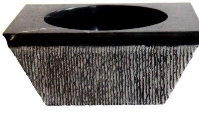 siyah mermer doğal taş lavabo
