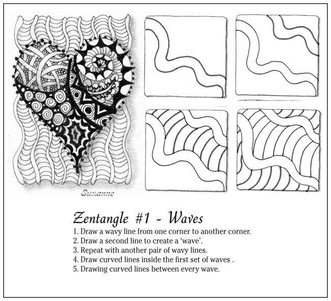 Waves  zentangle