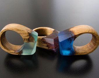 Resin Wood RingWood Resin Jewelry Epoxy Resin Wood от Magicatree