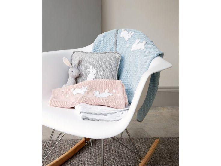 MAMAS & PAPAS Pletená deka Králíčci modrá | Kašpárek Baby