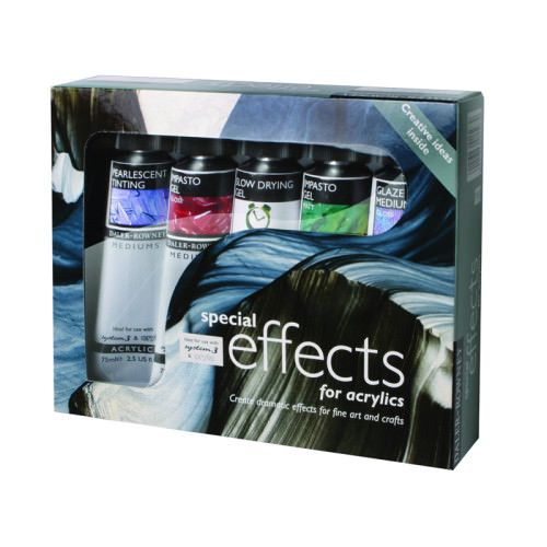 Set mediumuri efecte speciale, acrilice – 6 x 75ml