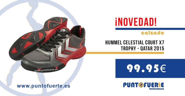 #Hummel X7 Trophy. Una de las sensaciones de #Qatar2015 ¡Entra en www.puntofuerte.es y hazte con las tuyas! #zapatillas #balonmano