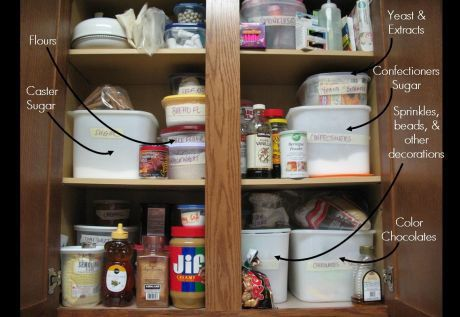 A baker's pantry.