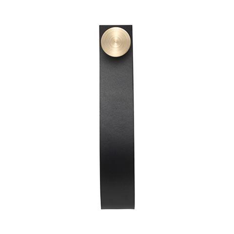 Stropp 2 pcs, black # brass (Available 1st April) - by Lassen