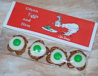 Green eggs (and ham) - I should really make these for next week, author week. Dr. Seuss