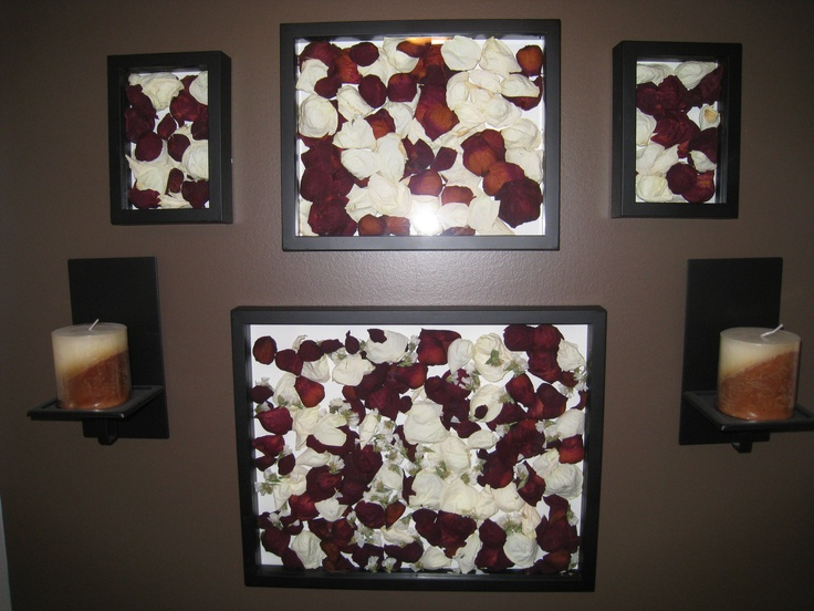 dried rose petals in a deep frame crafts pinterest