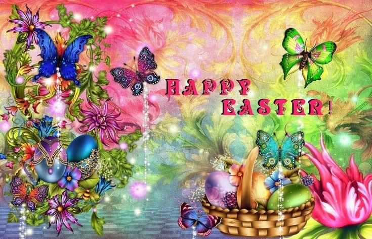Vacances - Pâques  Floral Vacances Happy Easter Fond d'écran