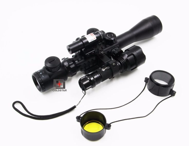 62.65$  Buy now - http://ali32x.worldwells.pw/go.php?t=32748312829 - Riflescope Optics Compact Combo 3-9x40EG Rifle Scope + Laser Sight + T1 Red Dot + CREE T6 LED Flashlight 5Mode C8 Torch 62.65$