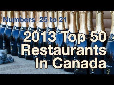 Top 50 Canadian Restaurants 2013
