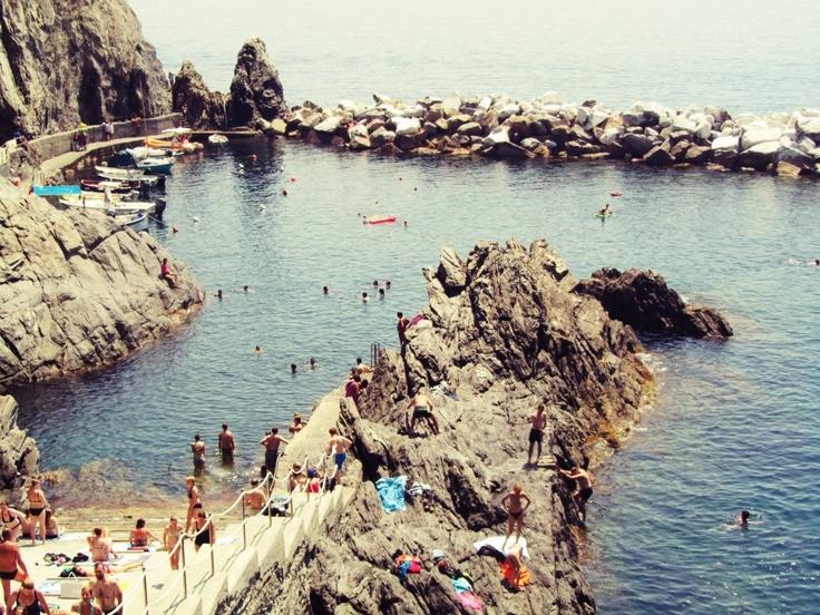 Monarola bathing spot, Italy