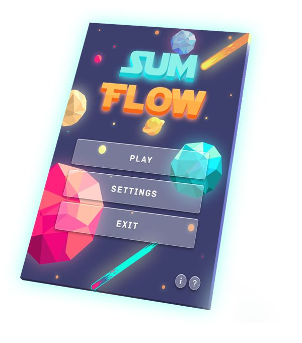 SUM FLOW Game Design by Elvira Arkanov, via Behance