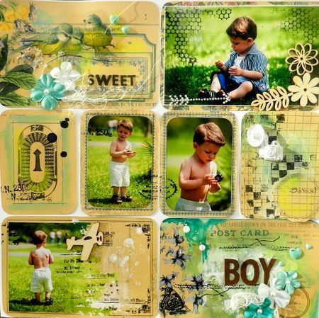 Pocket Page Scrapbooking by Solange Marques usine Everyday Vintage Kits! #everydayvintage #iod