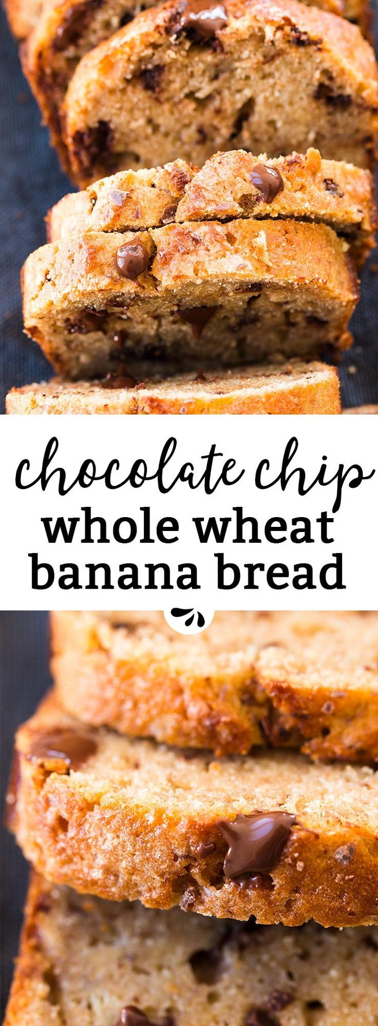 Easy and delicious, this Whole Wheat Chocolate Chip Banana Bread whips up in a single bowl! You can even freeze it to always have a delicious snack on hand. It's made with Greek yogurt, oil and less sugar than traditional banana bread recipes. Perfect for