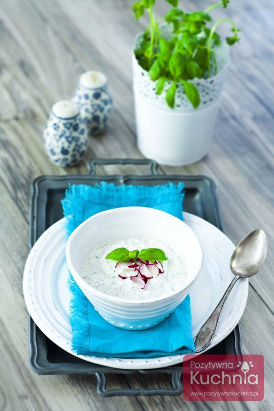 #przepis na #chlodnik jogurtowy - tani i szybki #obiad na upalne dni  http://pozytywnakuchnia.pl/chlodnik/  #kuchnia