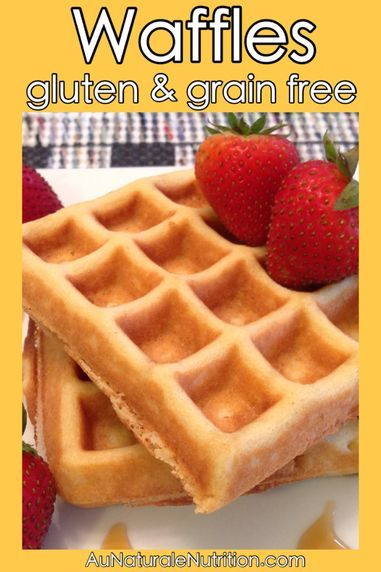 Buttermilk Waffles! Ultra light, fluffy, and delicious! (Gluten free, grain free, paleo, lower-carb, even dairy free!) By Jenny at www.AuNaturaleNutrition.com