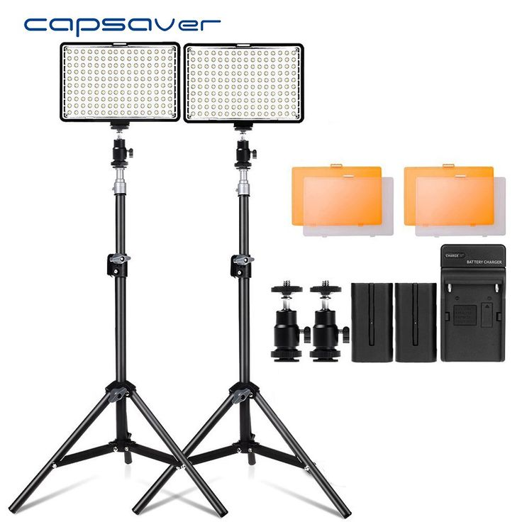 Sale US $89.99  capsaver TL-160S 2 in 1 Kit LED Video Light with Stand NP-F550 Battery 160 LED Dimmable 3200K-5600K Studio Photography Lighting  #capsaver #Video #Light #Stand #Battery #Dimmable #Studio #Photography #Lighting  #BlackFriday
