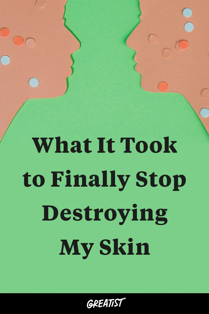 """I'd end up squeezing until the pus had long gone and my face was a bloody mess."" http://greatist.com/live/skin-picking-what-it-took-for-me-to-stop"