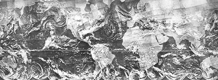 Tiros IX provided this dramatic <<first> complete view of the world's weather, collected over a 24 hour period on 13 February 1965