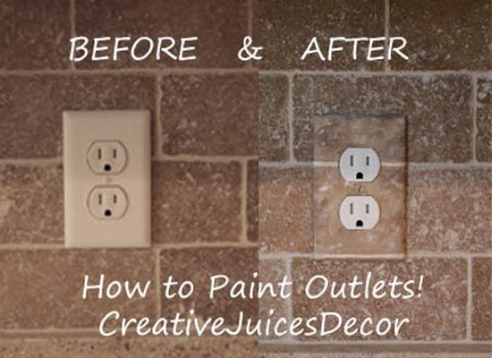 How to Paint/Hide Electrical Outlets and Plates Step by step tutorial.