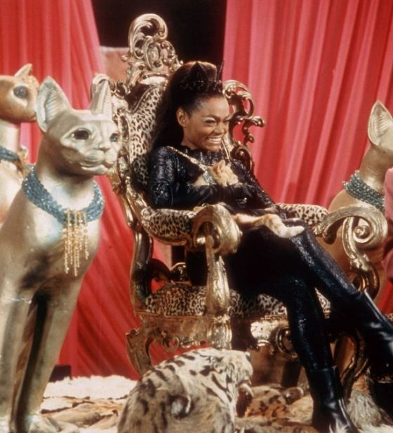 Eartha Kitt as Catwoman on 'Batman' TV series.
