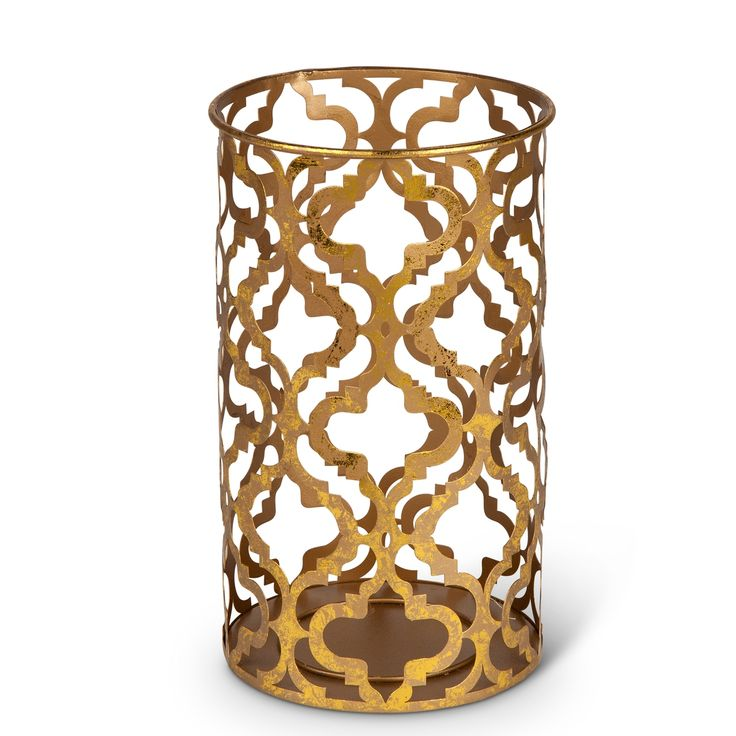 """Wholesale Event Solutions - Case of 2 Antique Gold Finish Metal Cylinder Candleholders - 9.25""""H, $36.00 (http://www.eventswholesale.com/case-of-2-antique-gold-finish-metal-cylinder-candleholders-9-25h/)"""