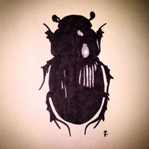 Markers on paper #art #tellendesign #marker #bug