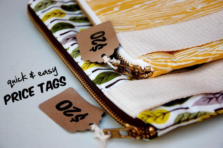 Craft Fair Price Tag Ideas