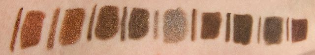 WARPAINT and Unicorns: Dare to Compare: Brown & Bronze Waterproof Eyeliner Pencils (Urban Decay, Rimmel, Too Faced, & NYX)