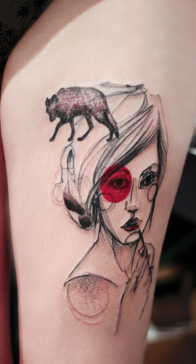 Marta Lipinski _ Love this Red Riding Hood Tattoo...