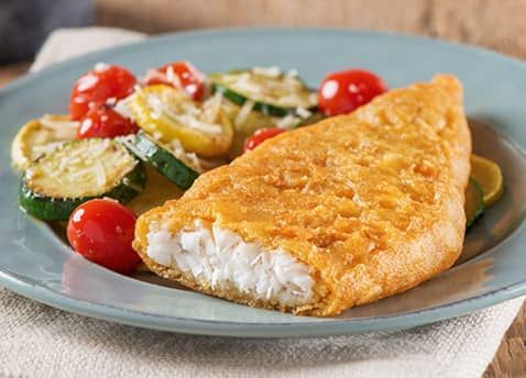 Our recipe for Pub-Style Beer Batter Cod with Roasted Vegetables makes the perfect Foodie Approved meal