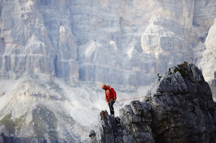 When on a cliff in the Dolomites.