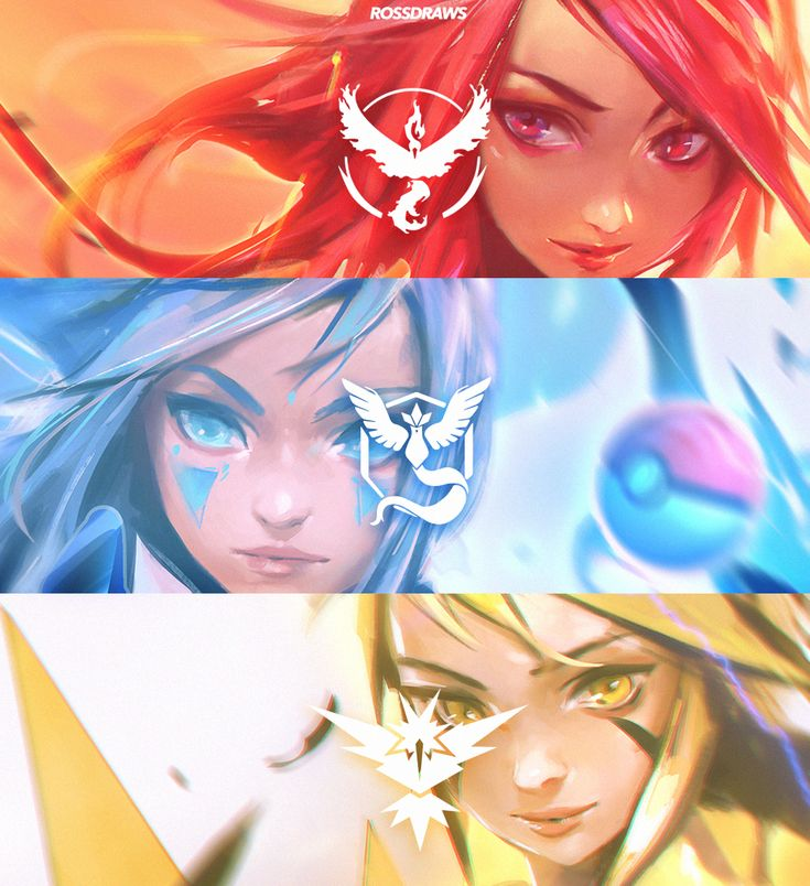 Pokemon Go Team art (http://rossdraws.tumblr.com/)