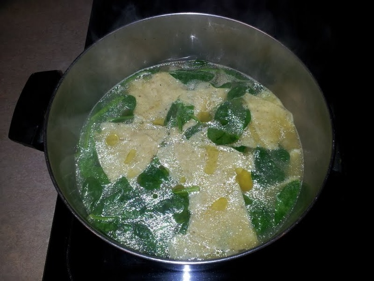 Spinach garbanzo soup When I lived in Mexico City in the seventies ...