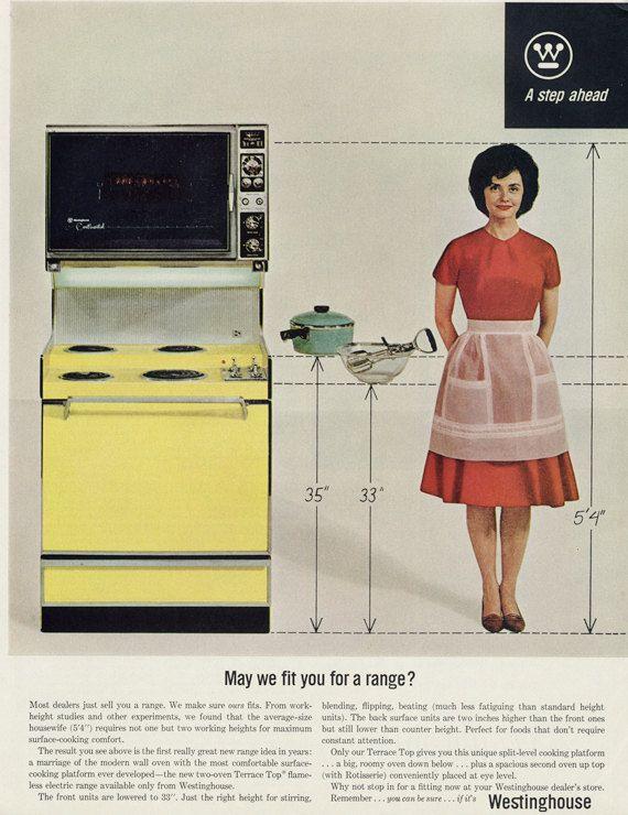 1960s Westinghouse Range Ad Retro Housewife Photo Etsy