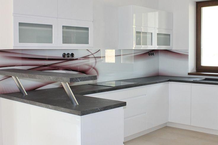 Sklenená kuchynská zástena LKZ-076