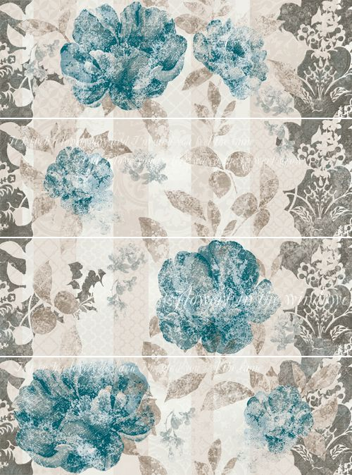 Tempera Turquesa 25x75 cm.  Wall tiles | Aquarelle series | Arcana tiles | arcana ceramica