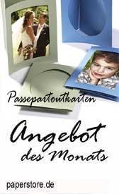 Angebot des Monats bei paperstore.de: Passepartoutkarten in vielen Formaten, Farben in oval und eckig