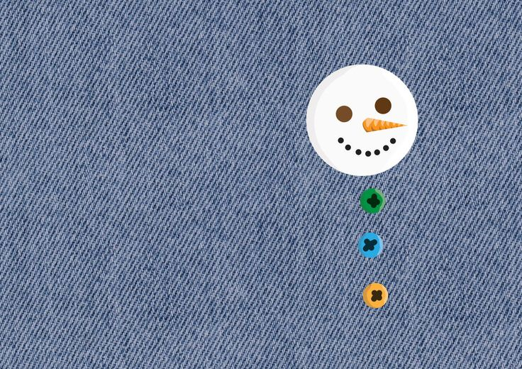 Snowman Family Buttons! I imagined it to be attached to a jeans bag of mine (that I lost actually)