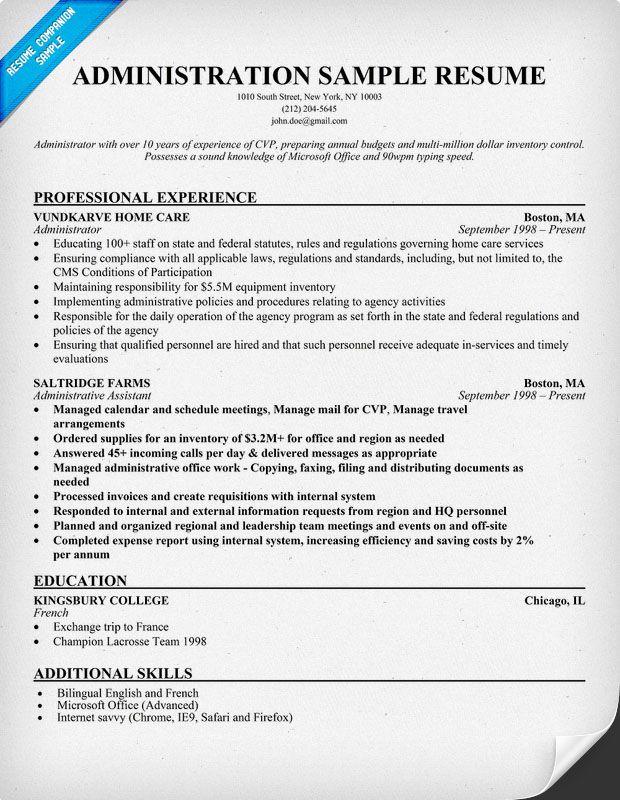 administration resume sample - Exchange Administration Sample Resume