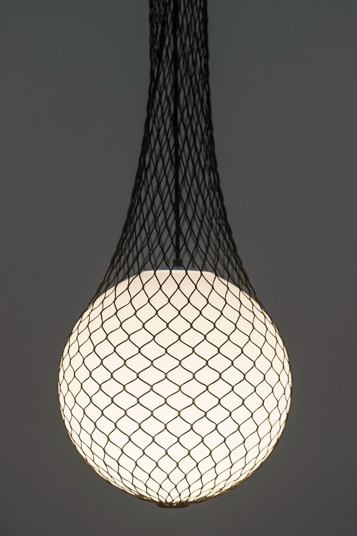 Glass and fabric pendant #lamp NETWORK by Formagenda | #design Benjamin Hopf @formagendagmbh