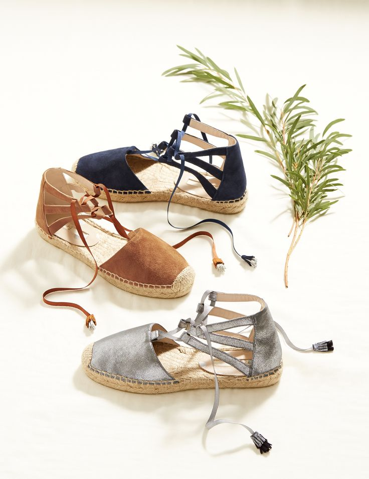 Made from supersoft suede, these gorgeous espadrilles are wear-forever, shop-for-six-hours-without-regret comfortable. Available in classic navy, tan and silver, all styles have cut-out straps and easy-tie laces. Take a closer look at the tassels: we've added contrast fringing detail for extra metallic shine.