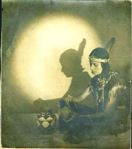 Pocahontas Cook (the daughter of George Major Cook and Theodora Octavia Dennis-Cook) - Pamunkey - circa 1930