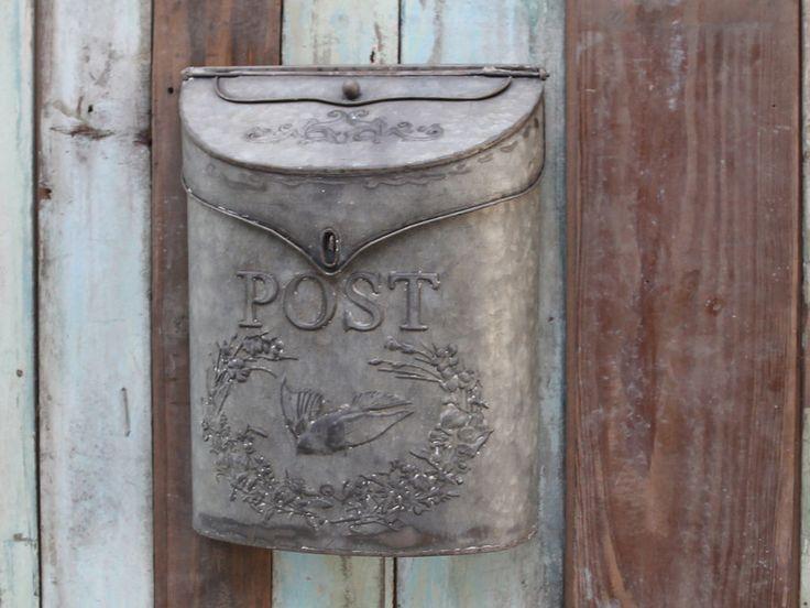 Chic Antique Briefkasten Metall shabby vintage Deko Nostalgie