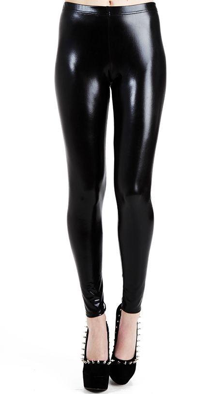 Wet Look Leggings - Pamela Mann