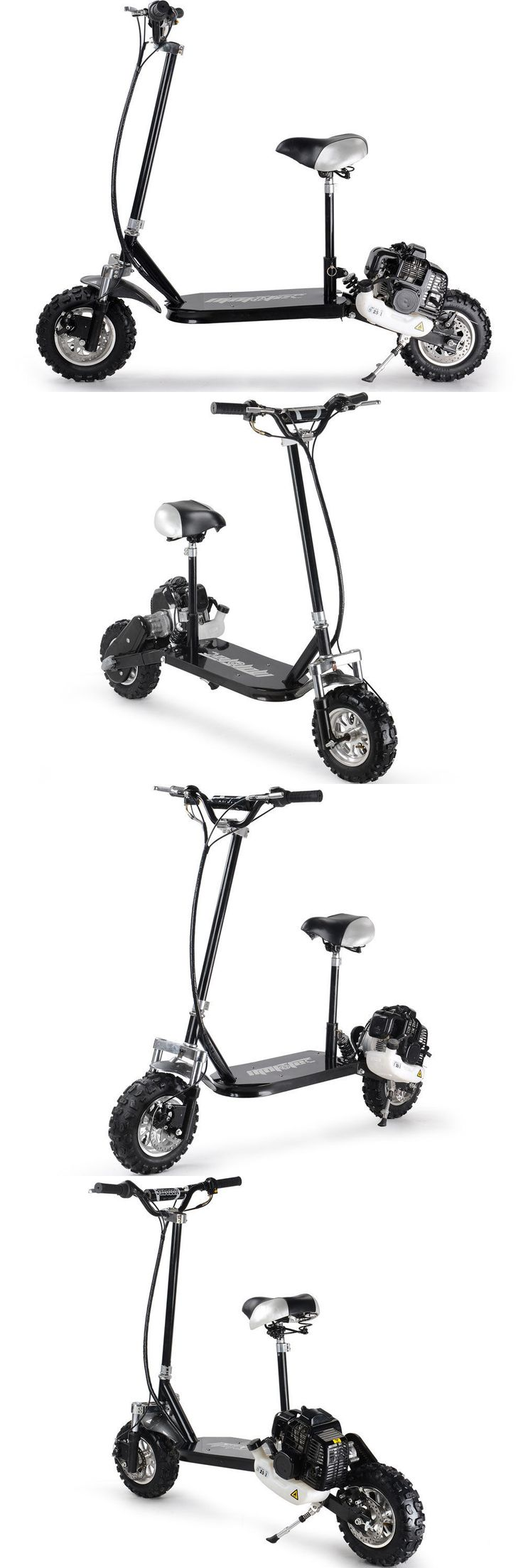 Gas Scooters 75211: New Mototec 3 Speed Shifter 49Cc Gas Scooter With Seat Knobby Tires Mt-Gs3_Black -> BUY IT NOW ONLY: $509 on eBay!