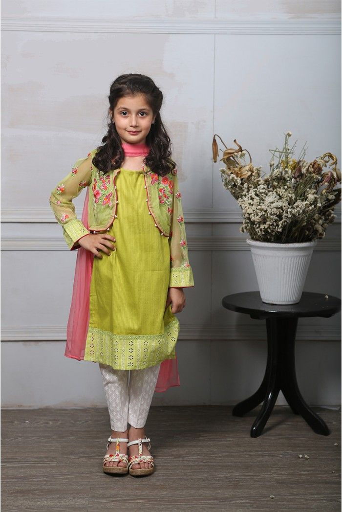 e667a48a46 Maria B Fancy Kids Dresses Designs 2018-19 Collection for Girls | frocks | Kids  party wear dresses, Kids party wear, Kids ethnic wear